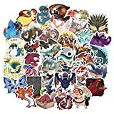 Monster Hunter Game Stickers for Laptop 50pcs Cool Vinyl Decals for Water Bottles Computer Bicycle Motorcycle Bumper Skateboard Cars PS4