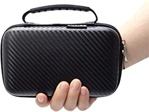GHKJOK Travel Accessories Storage Bag, Waterproof Data Line Data Cable Mobile Hard Drive Charger U Disk Headset Storage Box-Black Carbon fiber material 3DS bag with handle