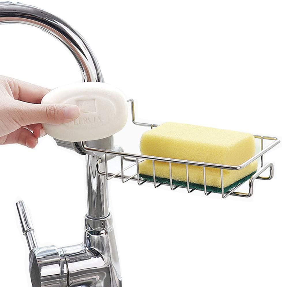 TJXING Kitchen Sink Directly managed store Organizer Max 43% OFF Sponge Stainless Faucet Steel