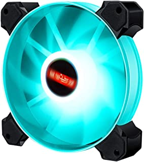 Generic High 12cm LED RGB Round Computer Case Cooling Fan Accessories,Efficient and Aesthetic - Blue Light 02