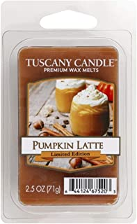 Dept 18 Tuscany Candle Limited Halloween Edition Pumpkin Latte Wax Melts, 2.5 Oz