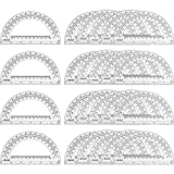 24 Pack Plastic Protractors Math Protractor 180 Degrees 6 Inch, Clear...