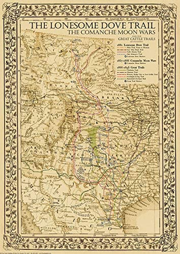 1881 Lonesome Dove Comanche Spring new work one New product! New type after another Moon Map Cattle Great Trails Wars