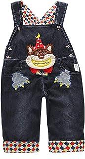 DEBAIJIA Bambino Ragazza Salopette Jeans Tuta Blu Denim Cartone Animato da Coniglio