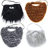Tigerdoe Fake Beards for Adults Kids - Costume Accessories - Beard & Mustache - Fake Mustaches (4 Pack Costume Beards)