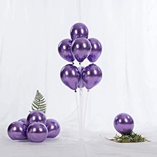 5 Inch Purple Chrome Balloons Metallic Party Latex Helium Balloon,Pack of 60