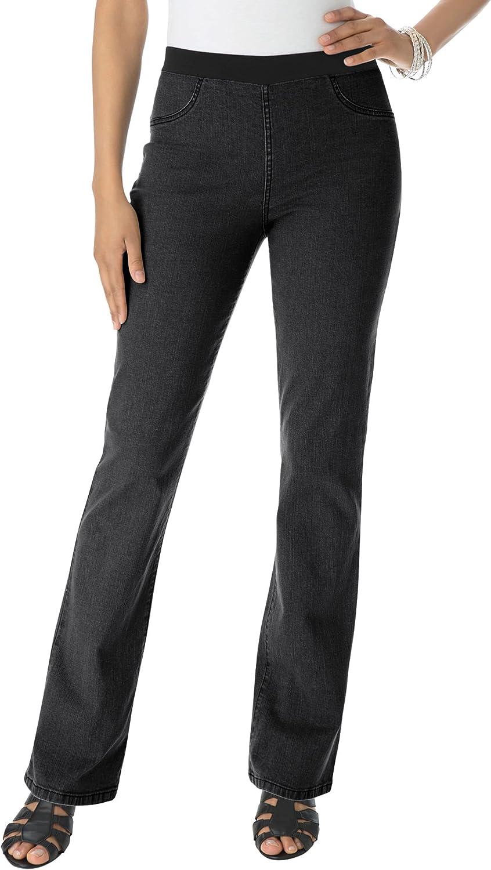 Roamans Women's Plus Size Petite Bootcut Jean