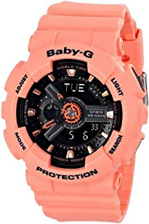 Casio Baby G Women BA111-4A2 Year-Round Analog-Digital Automatic Orange Watch