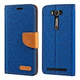 Asus Zenfone 2 Laser ZE550KL Case, Oxford Leather Wallet