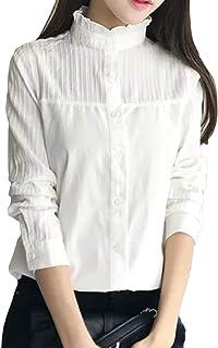 (アッシュランゲル) ASHERANGELレース レディース ホワイトシャツ 長袖 トップス 春 夏 切り替え ブラウス