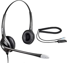 Binaural Noise Canceling Call Center/Office Headset & HIS Cable for Avaya IP 1608, 1616, 9601, 9608, 9611, 9611G, 9620, 9621, 9630, 9631, 9640, 9641, 9650, 9670 J139, J169 and J179 Phones