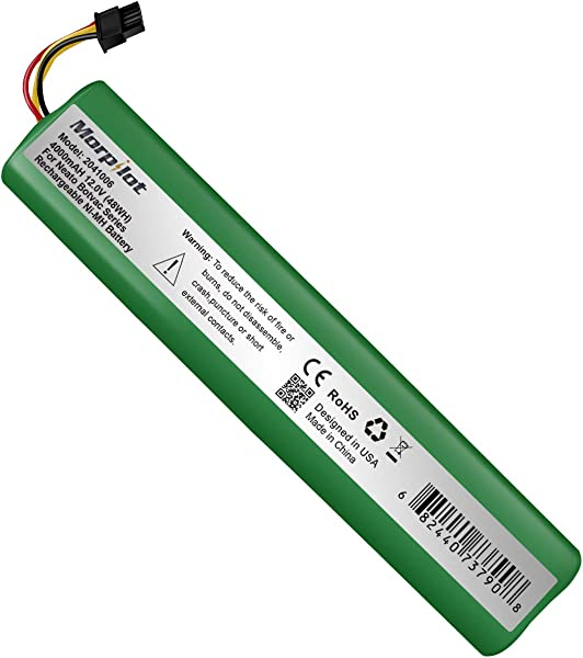 Morpilot 12V 4000mAh Extended NiMh Battery For Neato Botvac Series 70e 75 80 85 Robotic Vacuum 945 0129 945 0174 Not Compatible With Neato D3 D5 D7