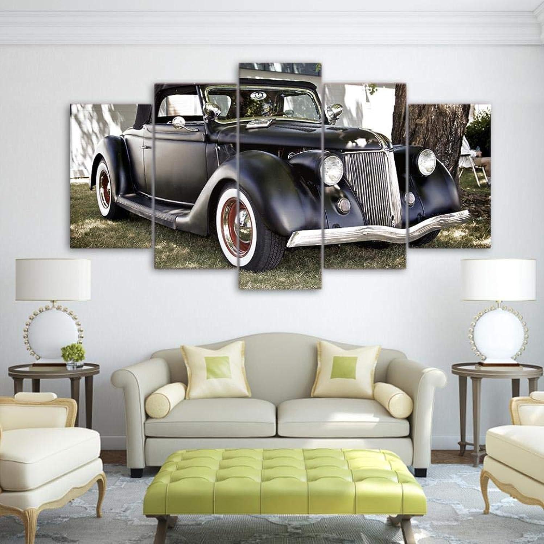 punto de venta de la marca QIFUHUA Pintura Wall Art Poster HD Impreso Moderno 5 5 5 Panel Vintage Cars Lienzo Salón Imágenes Decoración del hogar Marco Modular, Marco, 20x35 20x45 20x55cm  Precio al por mayor y calidad confiable.