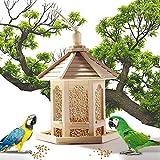 Alimentador colgando Prueba Wild Bird Feeder ardilla Bird Alimentadores hexagonal de madera del alimentador del pájaro Jardín hueco Bird, Bird Permanente alimentación, jaulas de pájaros Bird Feeder