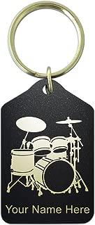 Timiy Set of 3Pcs Drum Key Chain Necklace Cross Drum Head Continuous Motion