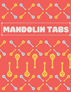 Mandolin Tabs: Write Down Your own Mandolin Music! | Pretty Tablature Songbook to Write in | Blank Sheet Music Notebook: Learn How to Play Mandolin ... for Mandolin with Blue & Yellow Pattern