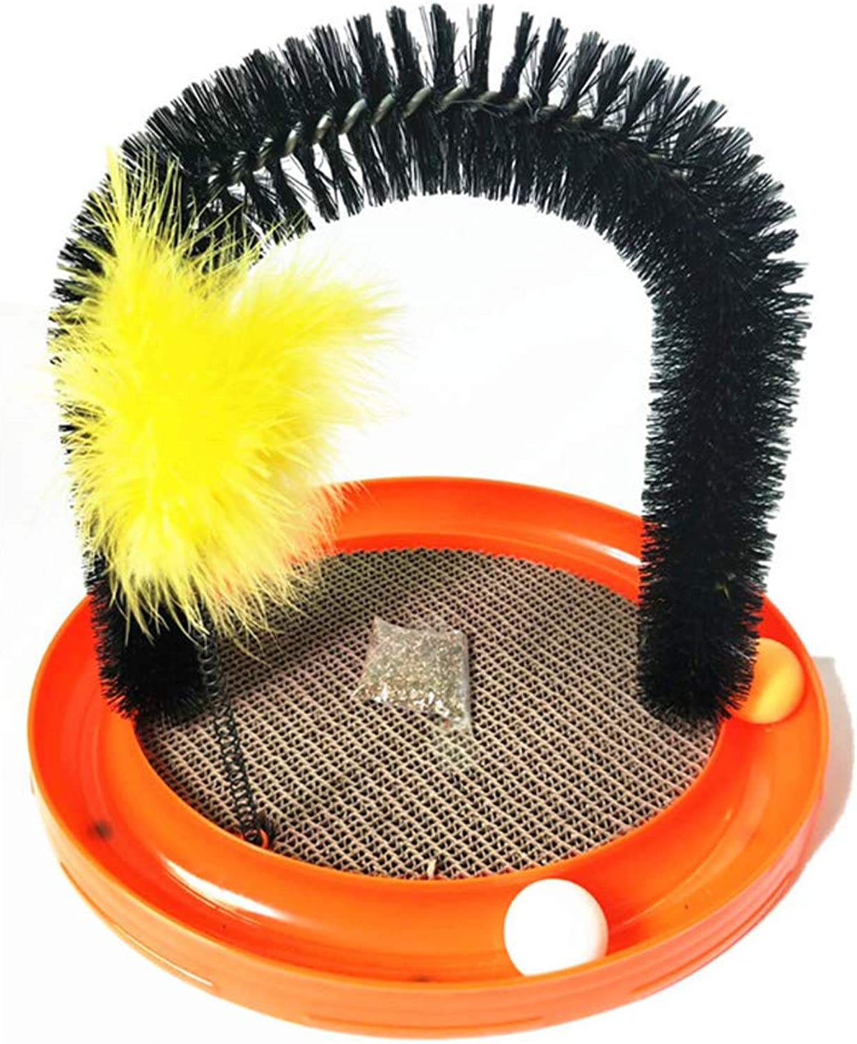 Cat Toys, Cat Scratch Board, Cat Stick, Play Ball, Cat Arch, Multifunctional Fourinone Cat Toy, with Ball, Cat Wand, Catnip