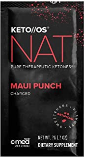 Pruvit Keto//OS NAT CHARGED, BHB Salts Ketogenic Supplement - Beta Hydroxybutyrates Exogenous Ketones for Fat Loss, Workout Energy Boost Through Fast Ketosis. 20 Sachets (Maui Punch)