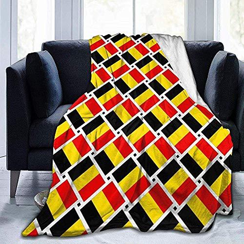Cathycathy Fleece deken vlag van België Bed deken voor bank stoel woonkamer