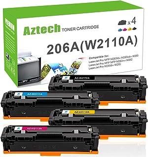 Aztech Compatible Toner Cartridge Replacement for HP 206A 206X W2110A W2110X HP Color Laserjet Pro M255dw MFP M283fdw M283...