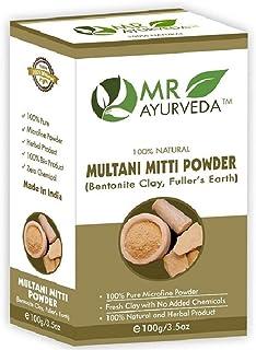 MR Ayurveda 100% Organic Multani Mitti Powder, 100 Gm