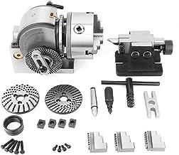 Trevligt att använda BS-0 Dividing Head Kit, CNC Mill semi universell precision 3Jaw 5 chuck tailstock delningsplatta upps...