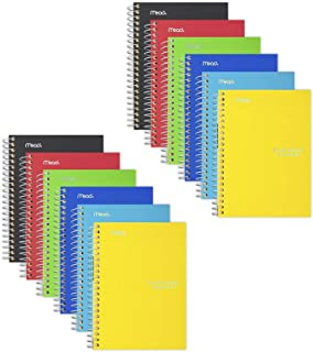 "Five Star Spiral Notebooks, 1 Subject, College Ruled Paper, 100 Sheets, 7"" x 5"", Personal Size, Assorted Colors, 6 Pack (3..."