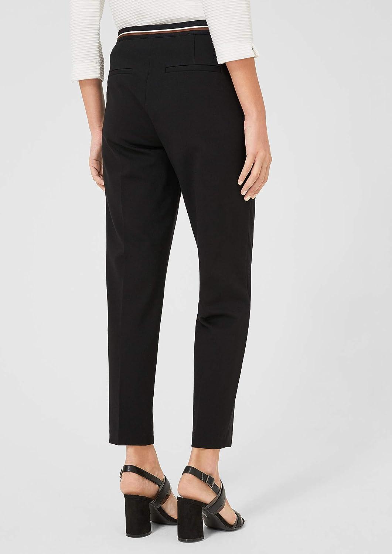 s.Oliver BLACK LABEL Pantalon Femme Noir (Forever Black 9999)