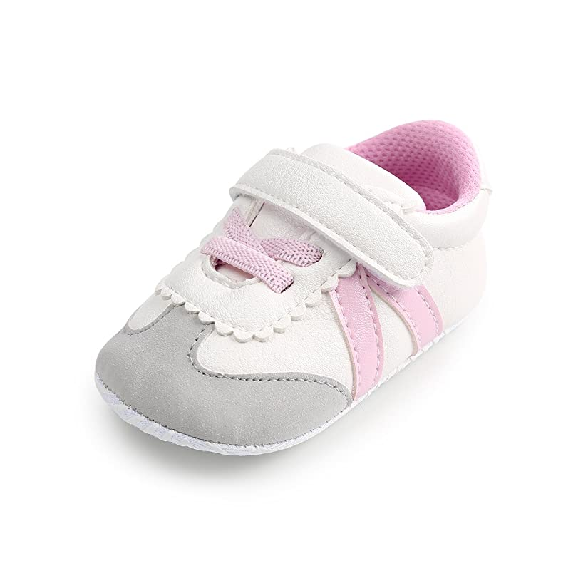 Z-T FUTURE Unisex Baby Shoes - Toddler Boys Girls Soft Anti-Slip Sneakers PU Infant Prewalkers Crib Shoes