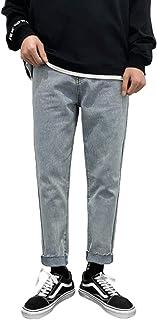 Heren zomer slanke halfhoge jeans, stijlvolle gewassen persoonlijkheidstrend Streetwear casual veelzijdige taps toelopende...