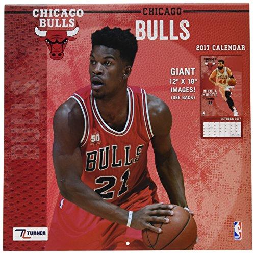 "Turner Licensing Sport 2017 Chicago Bulls Team Wall Calendar, 12""X12"" (17998011873)"