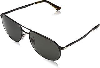 Persol - 107858 Gafas de sol, Wrap, Polarizadas, 60, Demi Gloss Black