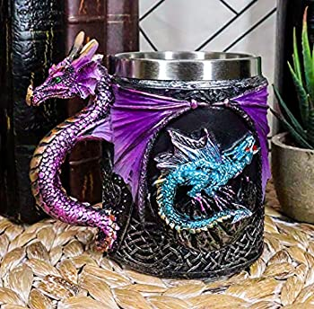 Ebros Myths And Legends The Conception Of Blue Fire Beowulf Purple Dragon Beer Stein Tankard Coffee Cup Mug Great Gift For Dragon Lovers Party Hosting  Purple Dragon