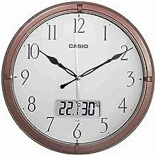 ساعة حائط من كاسيو Ic-02-5 مع خاصية عرض التاريخ واليوم انالوج رقمية