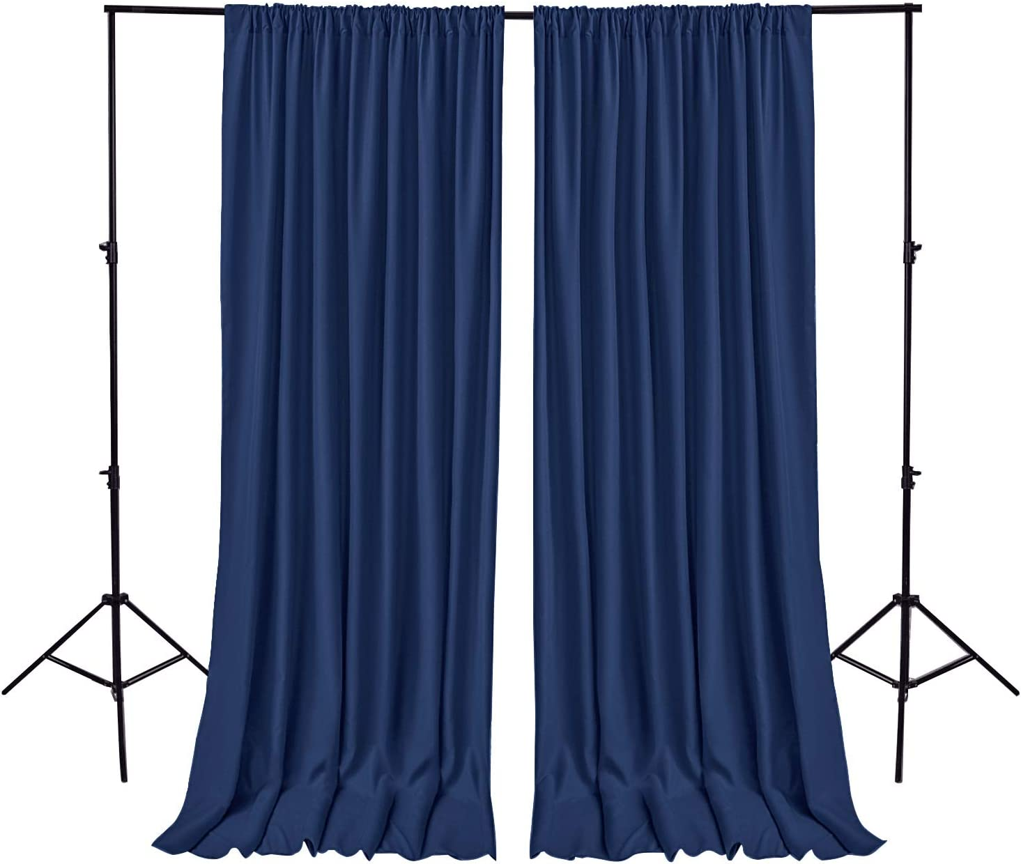Hiasan Navy Blue Backdrop safety Curtains Parties Photog Polyester Easy-to-use for