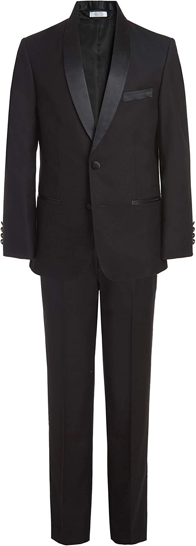 Calvin Klein Boys' Max 41% OFF Big 2-Piece Suit Includes Set Tuxedo Quality inspection Formal