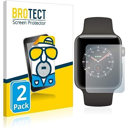 brotect Pellicola Protettiva Opaca Compatibile con Apple Watch Edition Series 3 (38 mm) Pellicola Protettiva Anti-Riflesso (2 Pezzi)
