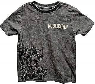 Roblox Grey Group Tee Robloxian Shirt for Boys (X-Small (4-5))