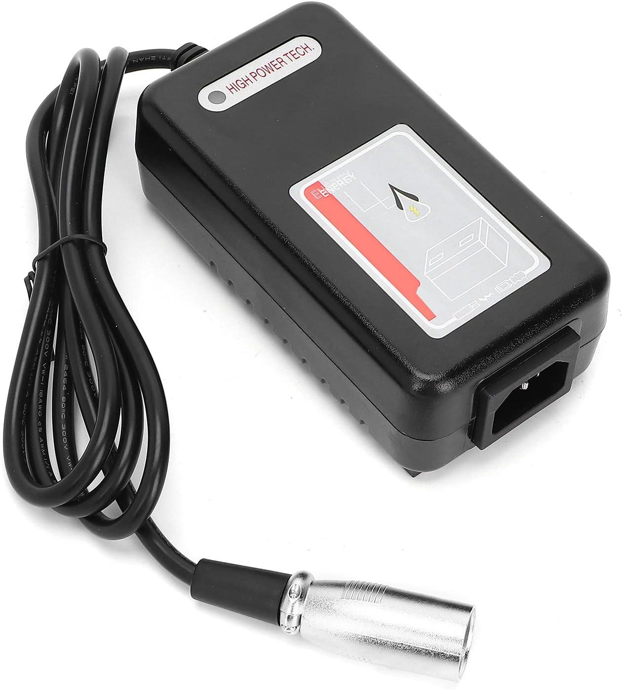 Cargador de batería automático inteligente Adaptador de batería Mantenedor de batería portátil 24V 2A Mobility Scooter Reemplazo de silla de ruedas Accesorio para coche Barco Cortacésped (EU)