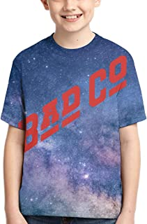 Bad Company Camiseta de Manga Corta para niños Casual tee Top Crew Neck Basic Ropa de Verano For Outdoor Tops