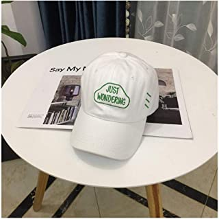 Hats Male and Female Wild Casual Twill Cap Spring and Summer Fashion Outdoor Sunshade Baseball Cap Fashion (Color : White, Size : F/56-59cm)