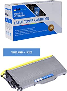 Inksters Compatible Toner Cartridge Replacement for Brother TN360 (J) Black Jumbo - Compatible with HL 2120 2125 2140 DCP 7030 7040 MFC 7440N