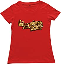 Tavil Red Short-Sleeve Willy Wonka and The Chocolate Factory T-Shirts For Womens
