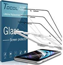 TOCOL [3 Pack for iPhone SE 2020/ iPhone SE2 (2nd Generation) [4.7 inch] Screen Protector, Tempered Glass Bubble Free with Alignment Frame Easy Installation [Not for iPhone 6/7/8]