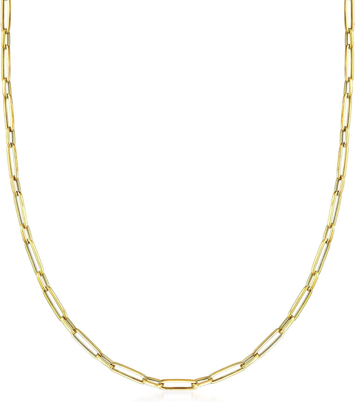 Ross-Simons Italian 18kt Dedication Yellow Gold Clip Regular store Link Necklace Paper