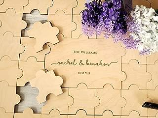 Rustic Wedding Guest Book Alternative Custom Guest Book Jigsaw Puzzles Rustic Guest Book Wedding Sign Canvas Guestbook Wood Wedding Gift 20-236 pieces