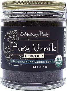 Wilderness Poets Pure Vanilla Powder – Organic Vanilla Bean Powder – Tahitian..