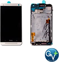 Group Vertical Replacement Screen Full Frame LCD Digitizer Assembly Compatible with HTC One M7 (Silver) (PN07110, PN07120, PN07200)