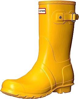Hunter Women's Original Short Yellow Mid-Calf Rubber Rain Boot - 9M