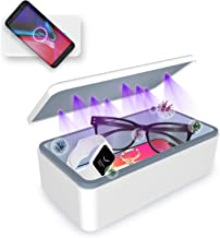 Cahot UV Sterilizer Box, Portable UV Light Phone Sterilizer Box with Extra Rack, Wireless Charging for Smart Phone, Deep U...